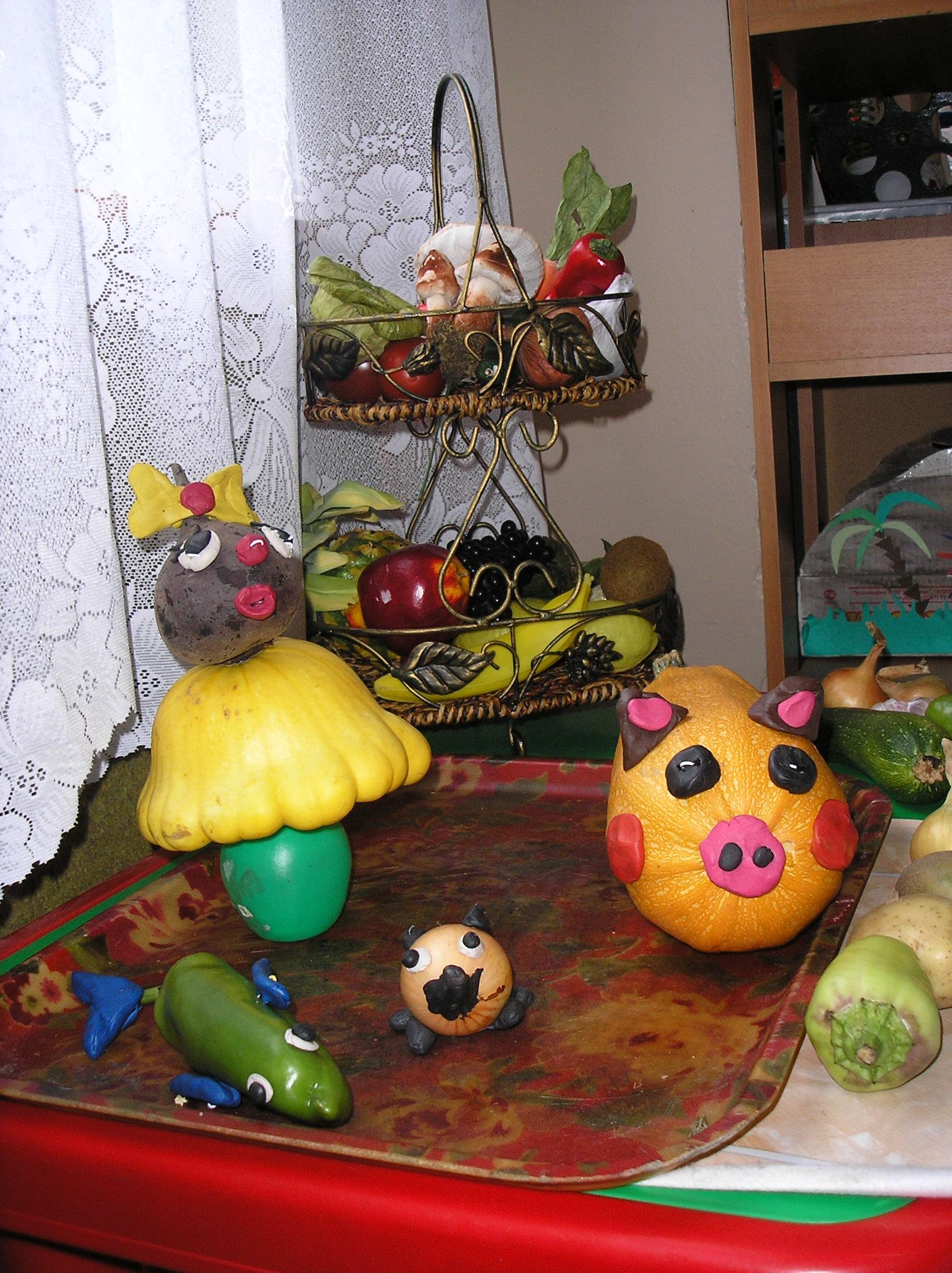 Детские поделки своими руками с овощей фото